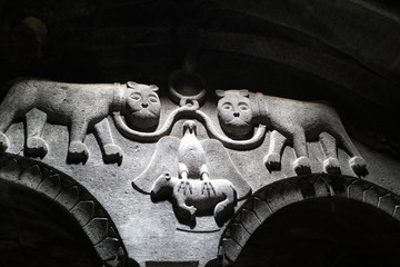 Coat of arms in church of Geghard monastery