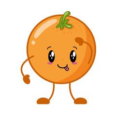 kawaii orange cartoon character