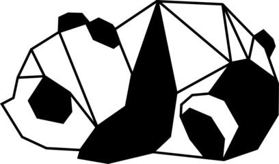 Panda Geometrisch - Silhouette