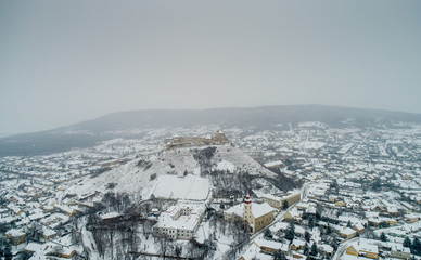 Fortress of Sumeg, Hungary at winter