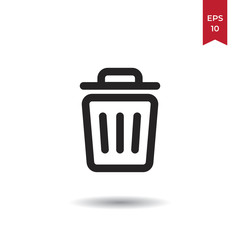 Garbage vector icon