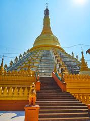 The main stupa of Mahazedi Paya, Bago, Myanmar