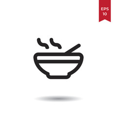 Broth vector icon