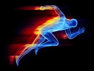 Illustration of a sprinter