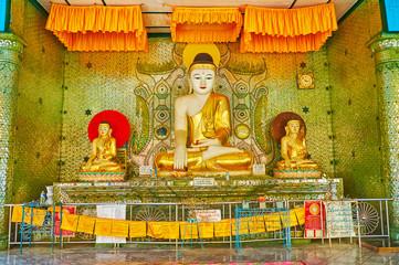 Interior of Image House in Shwemawdaw Pagoda, Bago, Myanmar