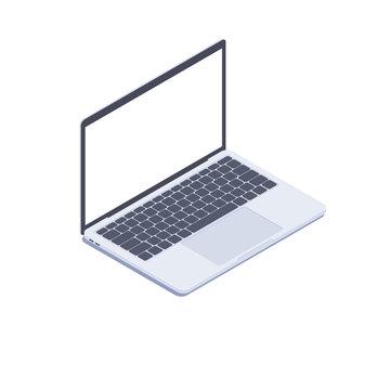 Isometric Laptop. Vector 3d isometric laptop computer