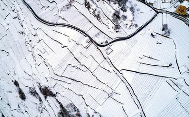 Valtellina (IT) - Sondrio - Frazione Sant'Anna - Vista aerea invernale