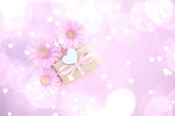 Geschenk mit Herz Glückwunschkarte