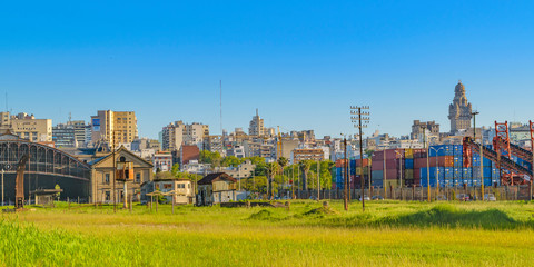 Montevideo Cityscape from Old Train Station View