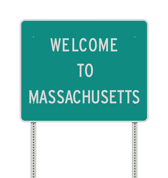 Welcome to Massachusetts road sign
