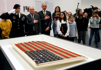 U.S. Ambassador Pete Hoekstra celebrates the 75th anniversary of the D-Day flag in Rotterdam