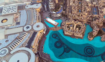 Aerial view The Dubai Malli city United Arab Emirates