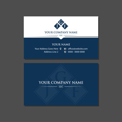 Corporate Dark Blue Business Card Template with Logo