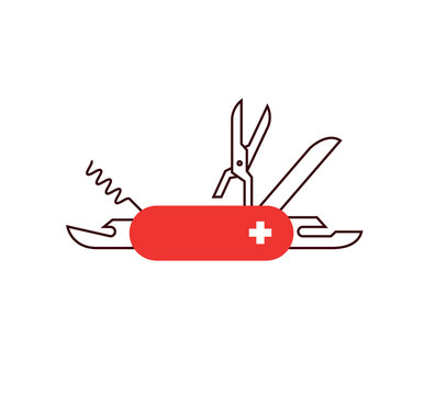 a vector icon of swiss multitool knife