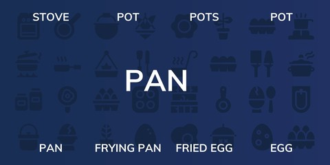 pan icon set