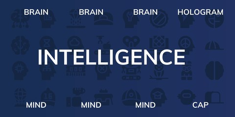 intelligence icon set