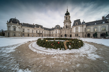 Festetics castle in Hungary at winter