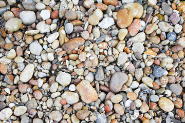 colored pebbles background