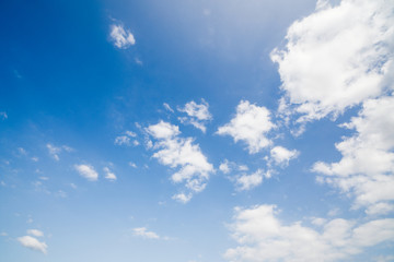 Cloudy blue sky abstract background, blue sky background.