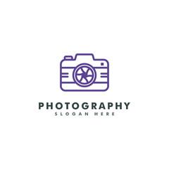 Photography Logo template. Camera icon design vector