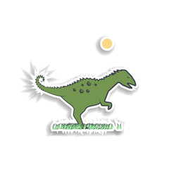 coritosaurus cartoon sticker icon. Elements of Prehistoric in color icons. Simple icon for websites, web design, mobile app, info graphics