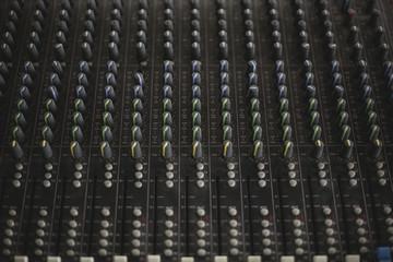 Dark Mixing Desk Panel