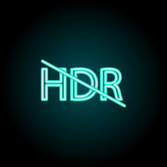 HDR sign icon. Elements of Image in neon style icons. Simple icon for websites, web design, mobile app, info graphics