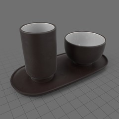 Tea cups with tray