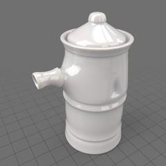 Porcelain sauce pot