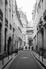Fototapeta A narrow street in Marais, Paris, France