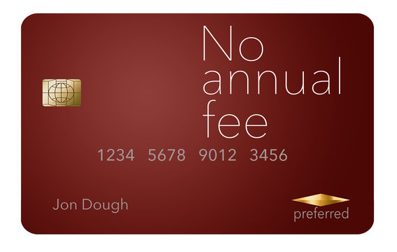 Here is a credit card where the cardholder does not have to pay and annual fee. It says: no annual fee on the card