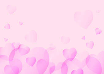 valentines day background and love heart