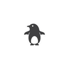 Cute penguin icon logo vector