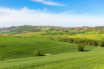 Rural view of a rolling landscape