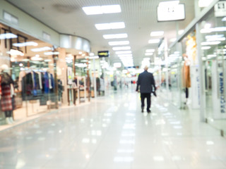 abstract blurred of department store or shopping center mall : blurred image for background use