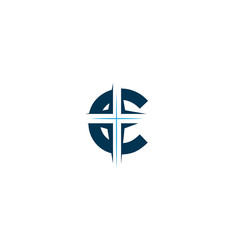 Church logo. Christian symbols.  Church vector logo symbol graphic abstract template - Vector