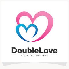 Double Love Logo Design Template Inspiration