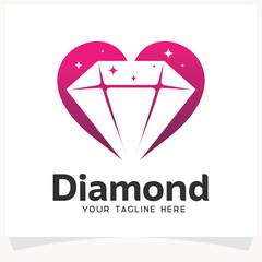 Diamond Love Logo Design Template Inspiration