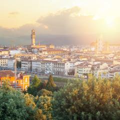 Staande foto Oceanië Cityscape skyline of Florence Italy. Firenze landmarks