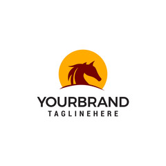 Horses Logo Vector illustration Design Template