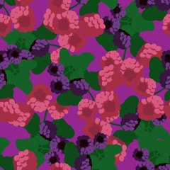 blackberry and raspberry pattern
