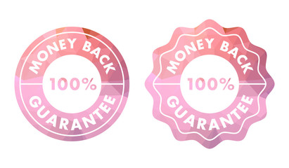 Money back guarantee stamp or seal in modern design.