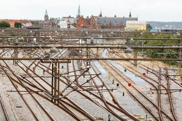 View of the Trainstation in Helsingor Denmark