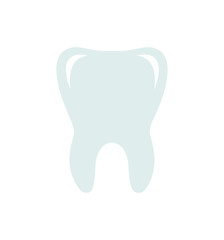Tooth flat icon dental vector illustration isolated on white