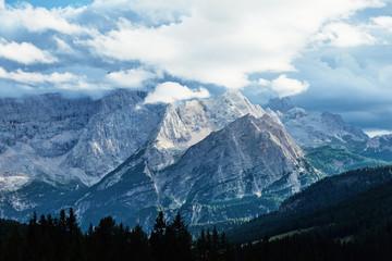Cristallo mountain at daylight