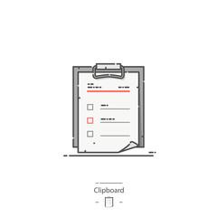 Clipboard - Line color icon