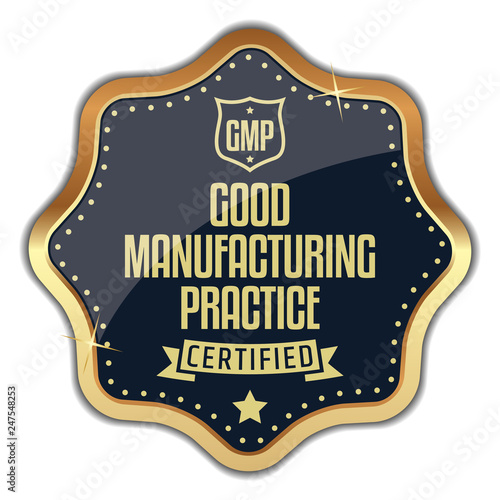 GMP  Good Manufacturing Practice  Vector Badge