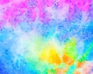 digital paint-like illustration abstract background of watercolor texture style