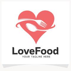 Love Food Logo Design Template Inspiration