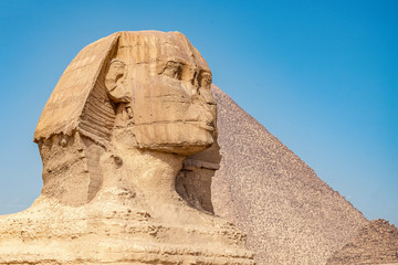 Wall Murals Egypt .Sphinx on blue sky background